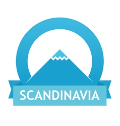 Badge with Scandinavian Landscape vector image