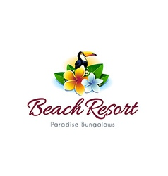 Beach resort logo vector