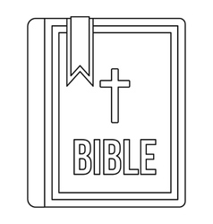 Bible icon in outline style vector image vector image