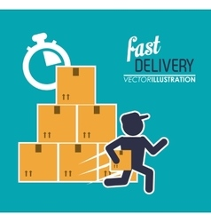 box package man delivery icon graphic vector image