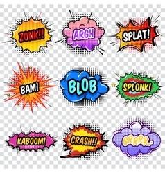 Comic Noise Effects Set vector image