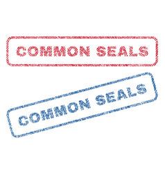 Common seals textile stamps vector