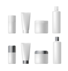 Cosmetic product plastic 3d bottle bottle vector