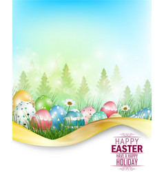 easter eggs background with space for text vector image vector image