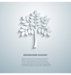 Environmental background with tree simulated 3 vector