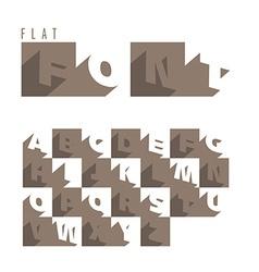 Flat alphabet icons vector