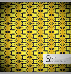Flower golden row ribbon zigzag vintage geometric vector