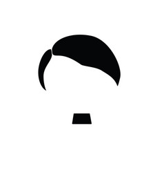 hair mustache nazi in black color vector image