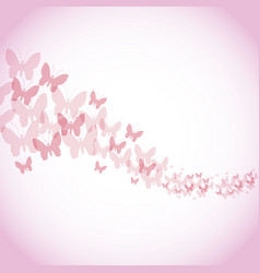 Happy womens day poster pink butterfly background vector