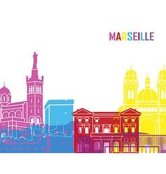 Marseille skyline pop vector image vector image