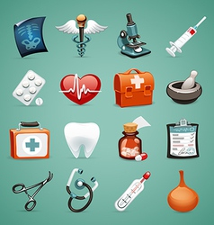 medical icons set1 1 vector image vector image