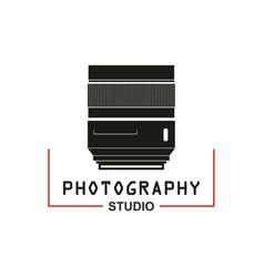 photo studio camera lens icon vector image vector image
