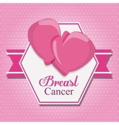 ribbon gloves breast cancer design vector image