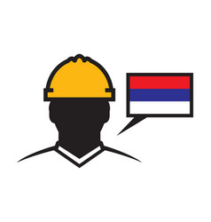 Serbian contractor icon vector