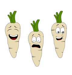 Set of cartoon parsley character with different vector