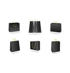 Shopping bags collection vector
