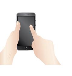 smartphone in hands vector image vector image