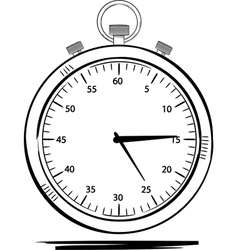 stop watch sketch vector image