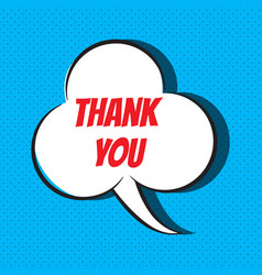 thank you quote vector image vector image