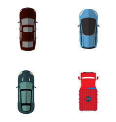 top view vehicles vector image vector image