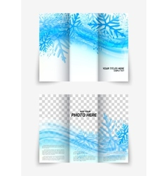 Trifold snowflake brochure vector image