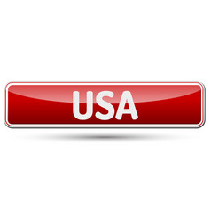 usa - abstract beautiful button with text vector image