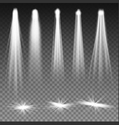 White beam lights spotlights scene vector