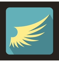 White wing icon in flat style vector image