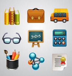 School icons-set 3 vector