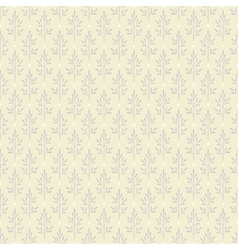 Seamless pattern with plants in pastel colors vector image