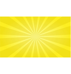 yellow ray zoom out background vector image