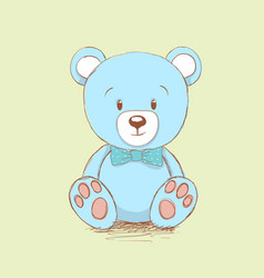 Sweet bear like a toy vector