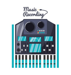 Dj console and mixer music vector
