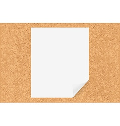Cork board with paper vector