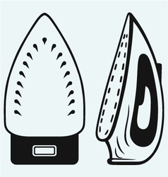 Modern steam iron vector
