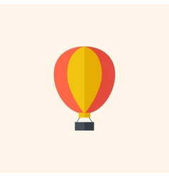Balloon travel flat icon vector