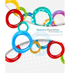 background with circles vector image