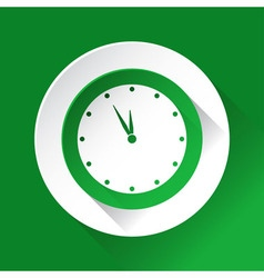Green circle shiny icon last minute clock vector