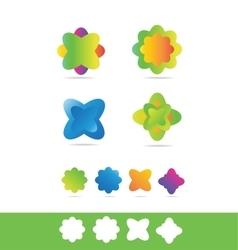 Flower florist shop logo vector