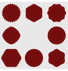 Set of stamps  red stamps texture  post stamp vector