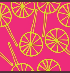 Seamless pattern lollipops vector
