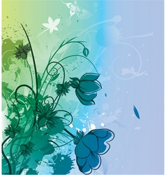watercolor floral background vector image