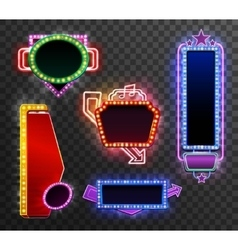 Retro light banner set vector