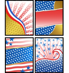 american backgrounds vector image vector image