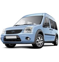 American compact minivan vector image vector image