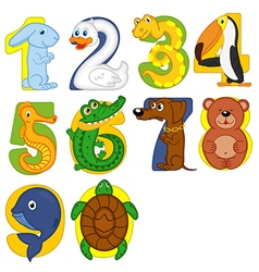 animals like numbers vector image
