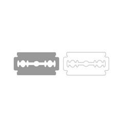 Blade razor grey set icon vector