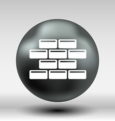 brick wall icon button logo symbol vector image