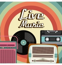 Cassette vinyl radio icon graphic vector