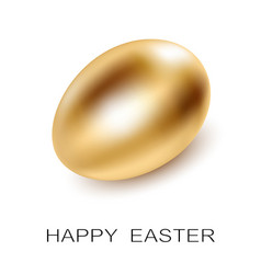 easter golden egg on white background vector image vector image